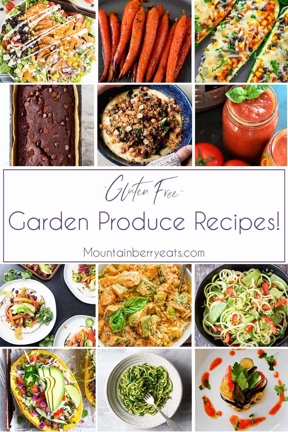 Gluten Free Garden Produce Recipe Collage