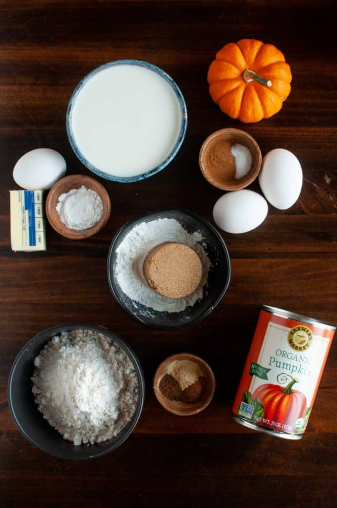 Ingredients used in pumkin belgian waffles