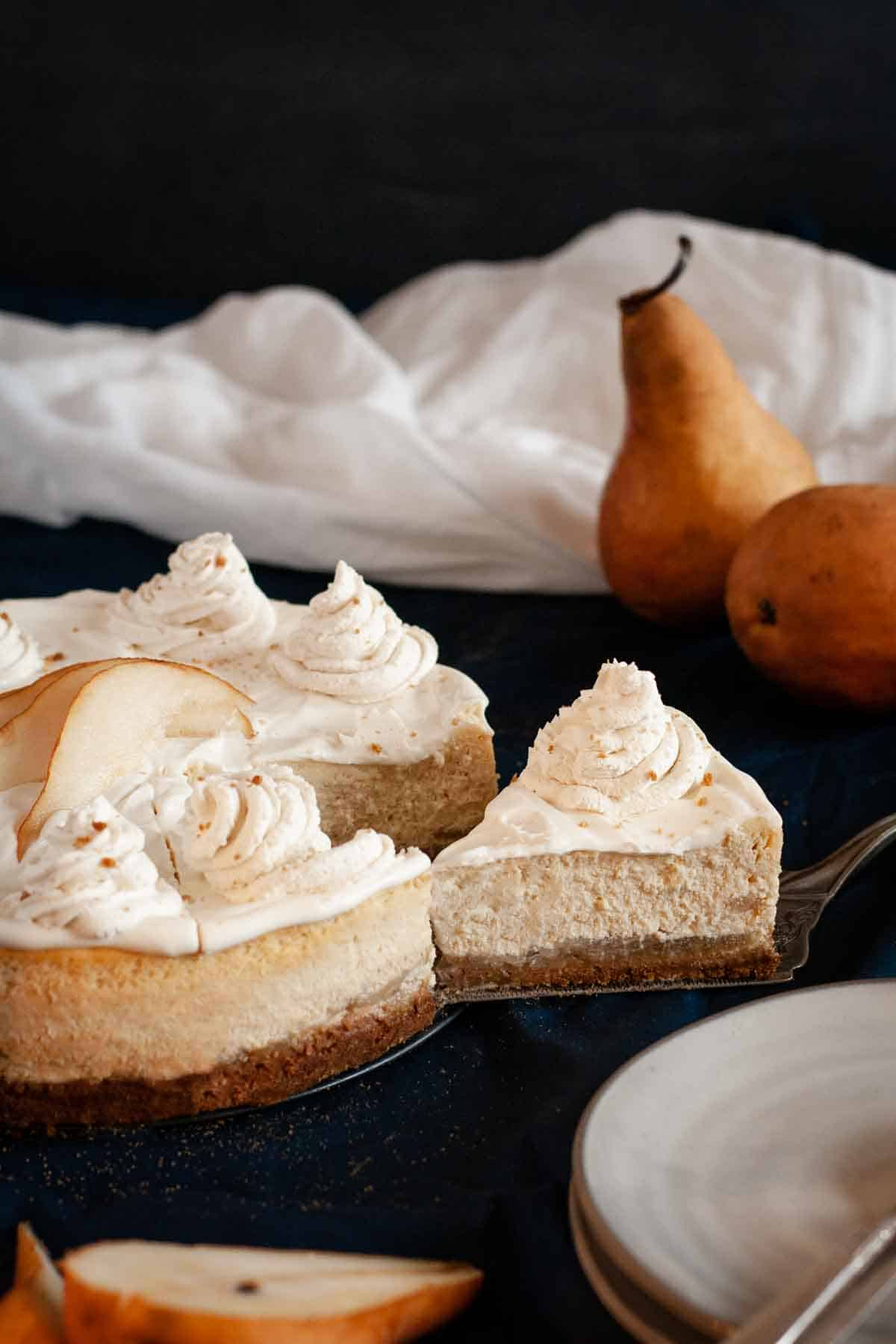 Pear Cheesecake with Ginger Spice