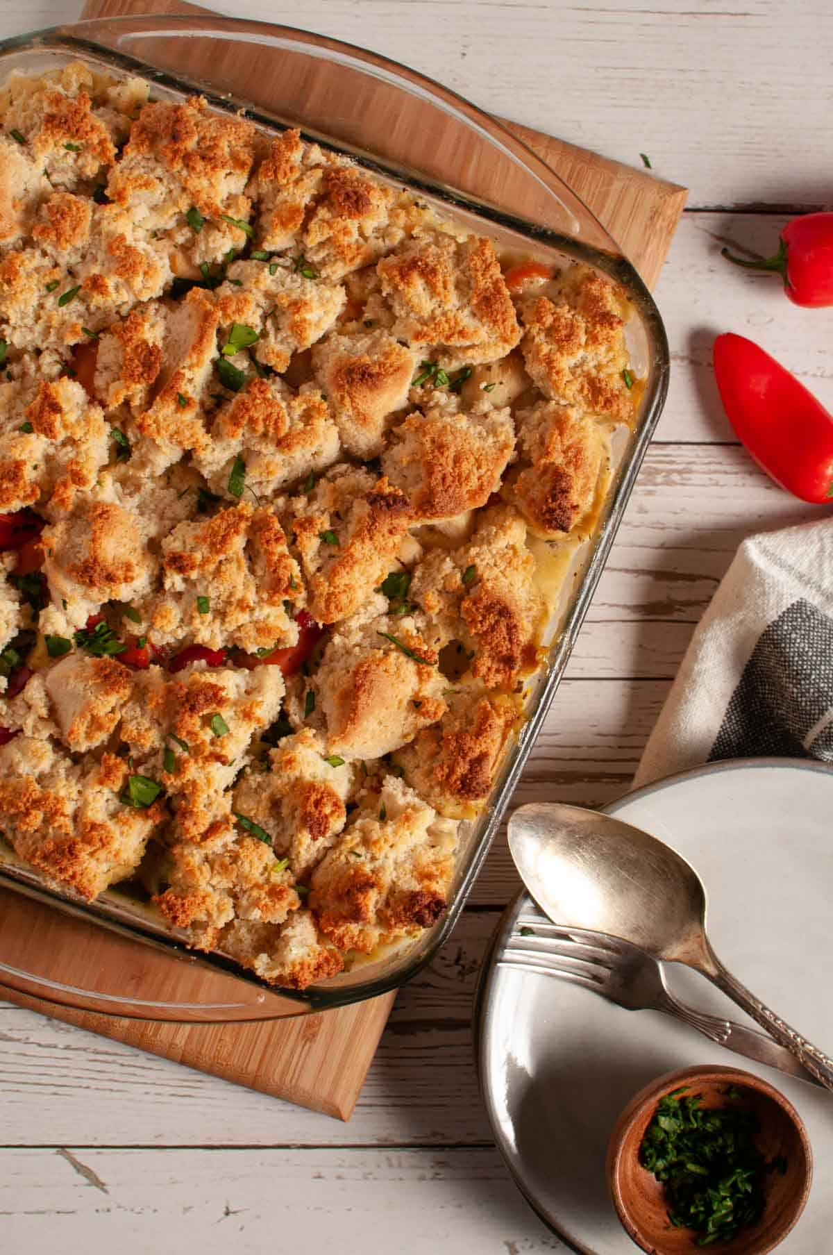 Grandma's Chicken and Biscuit Casserole