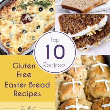 gluten free easter bread recipes collage and Pinterest graphic