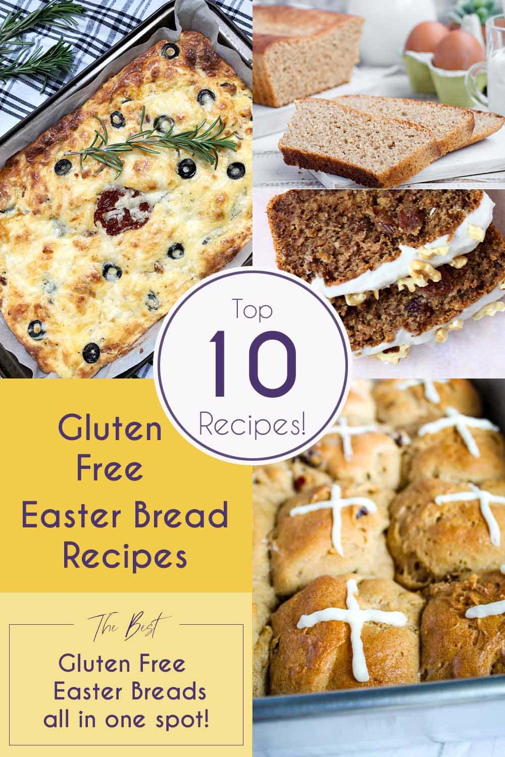 Top 10 Gluten Free Easter Bread Recipes!