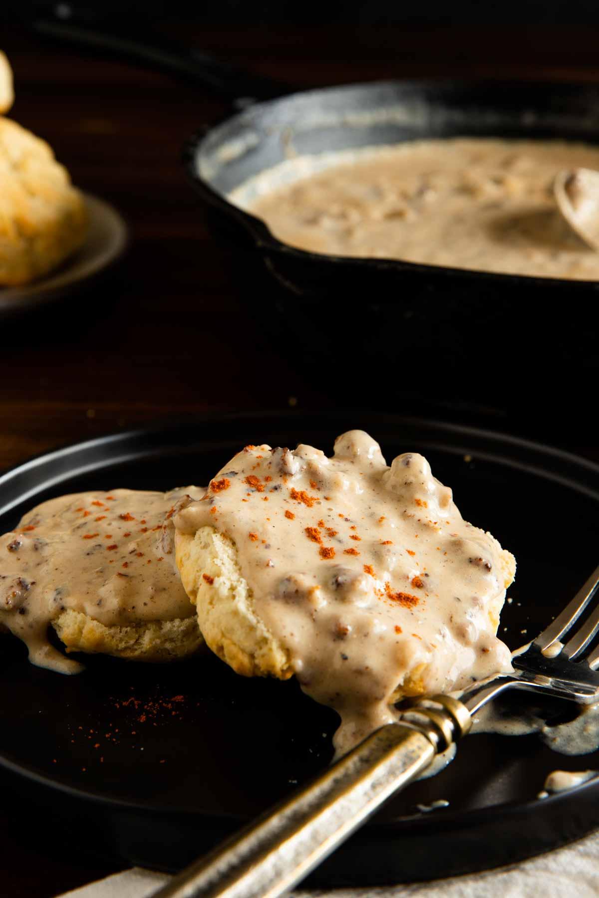 Gluten Free Sausage Gravy (Easy Biscuits & Gravy Recipe)
